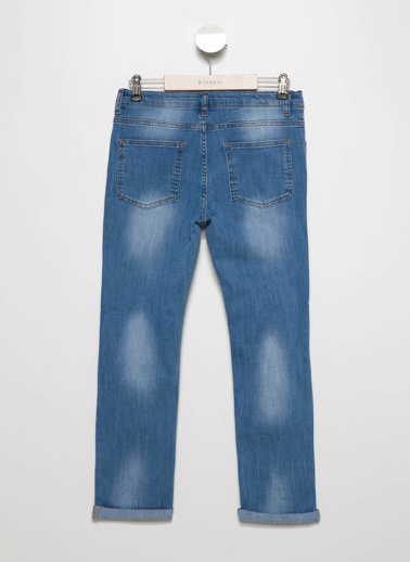 DeFacto 5 Cep Slim Fit Denim Pantolon Mavi